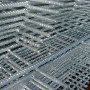 Galvanised reinforcing mesh fabric